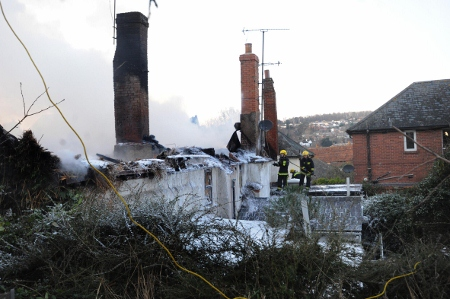 Homes destroyed and residents left homeless after Crediton fire