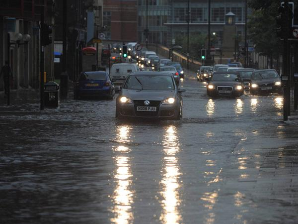 Torrential downpour to dump an inch of rain over Devon today