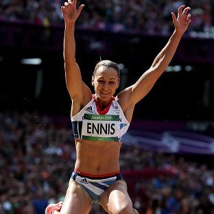 Great Britain's Jessica Ennis in the long jump event of the heptathlon during day eight of the Olympic Games