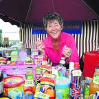 Mid Devon Star: Rosemary Collins at the tombola