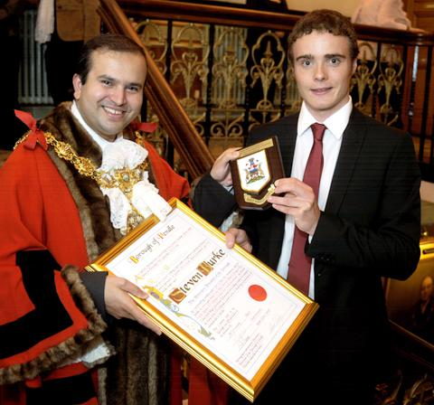 Mid Devon Star: Steven Burke becomes a freeman of Pendle
