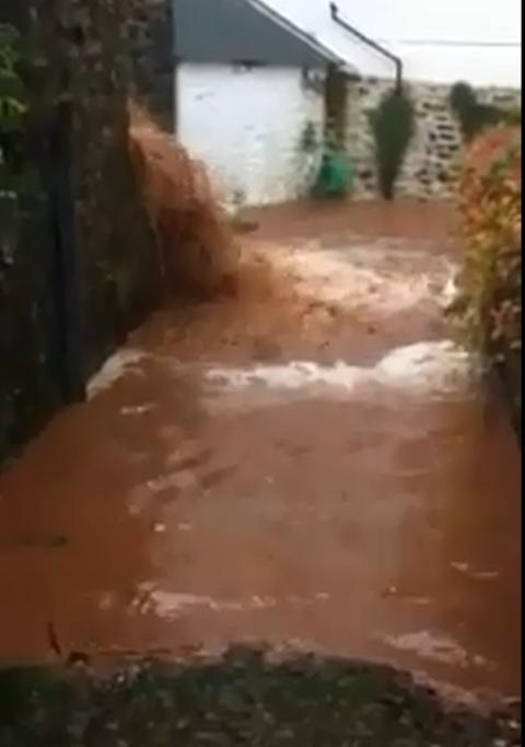Flooding at Clovelly