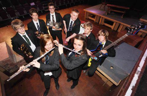 Tiverton High School students rehearse for Autumn concert