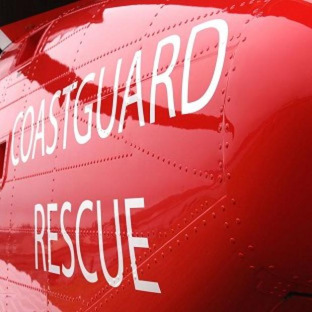The Coastguard was involved in the search for a man swept into the sea in gale-force winds