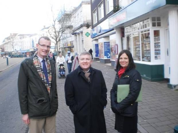 MARK Prisk MP, centre, with Mid Devon district councillors Neal Davey and Sue Griggs