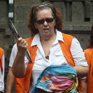 Lindsay Sandiford arrives at a courthouse in Denpasar, Bali island, Indonesia (AP)