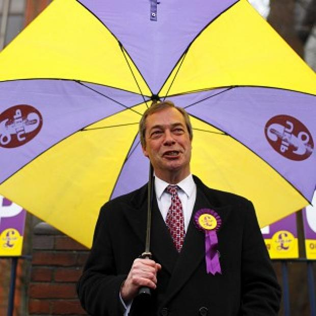 UKIP leader Nigel Farage in Eastleigh ahead of a by-election caused by Chris Huhne's resignation