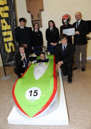 Leading Mid Devon company backs students' electric racing car project
