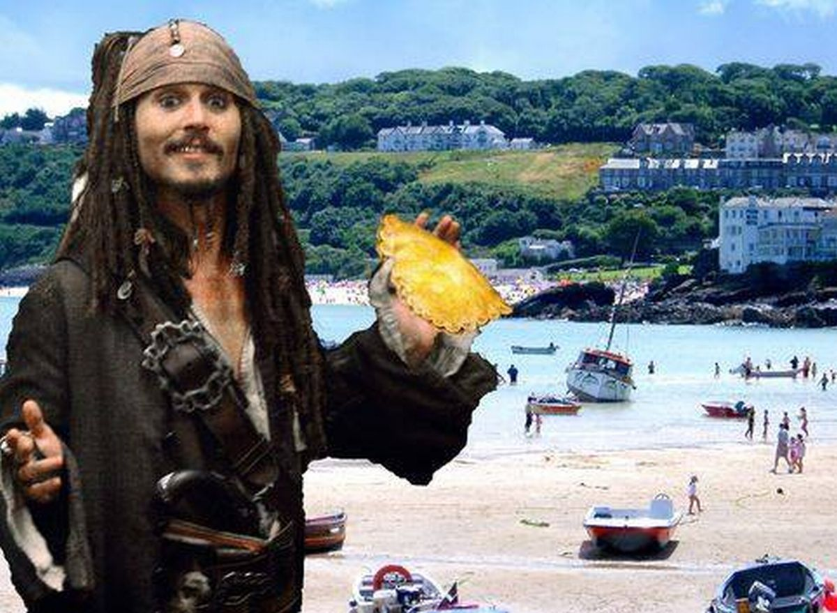 Was Johnny Depp in Falmouth and Penzance?