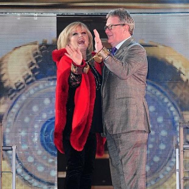 Mid Devon Star: Linda Nolan and Jim Davidson arriving at the start of Celebrity Big Brother 2014 at the Big Brother House, Elstree Studios, Hertfordshire