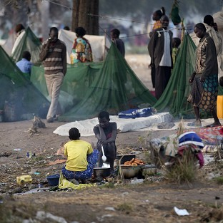 Thousands of families have had to leave their homes due to fighting in South Sudan.
