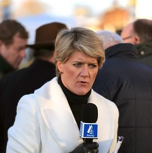 Presenter Clare Balding was among the guests at Nick Clegg's official residence