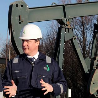 Prime Minister David Cameron visited the IGas shale drilling plant oil depot in Lincolnshire.
