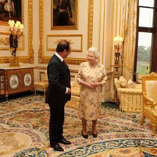 The Queen speaks with French preside