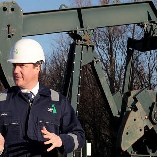 Mid Devon Star: Prime Minister David Cameron pictured during a visit to a shale drilling oil depot.