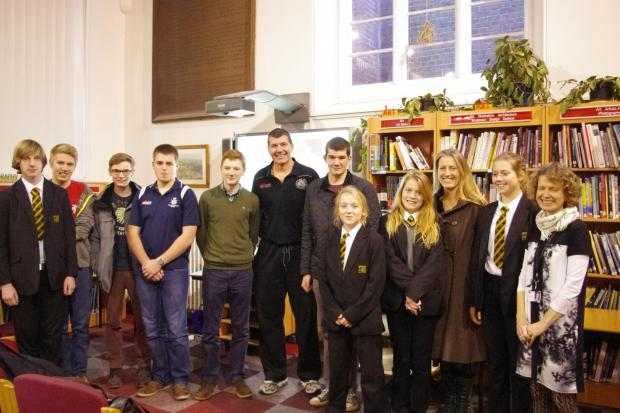 Rob Baxter inspires students