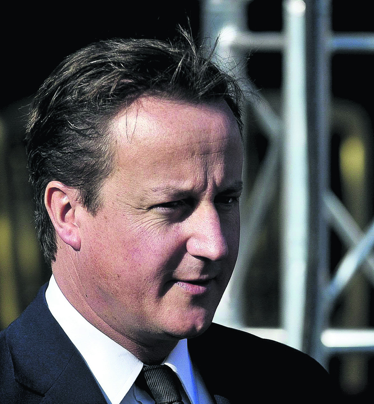 David Cameron touches down at Newquay Airport on whistlestop visit to storm hit Cornwall