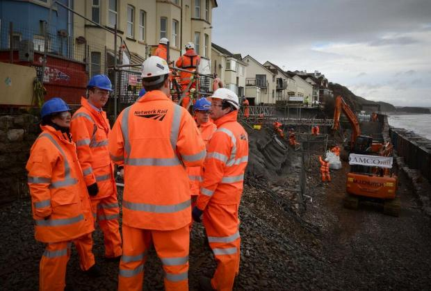 £35million Dawlish railway line repair... in two minutes: VIDEO