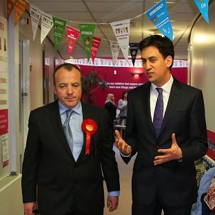 Labour Leader Ed Miliband helped new Wythenshawe and Sale East MP Michael Kane c