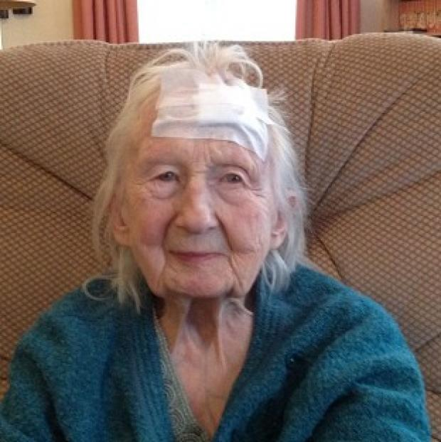 Mid Devon Star: Connie Hallford, who was badly beaten when three masked men burst into her home (Suffolk Constabulary/PA)
