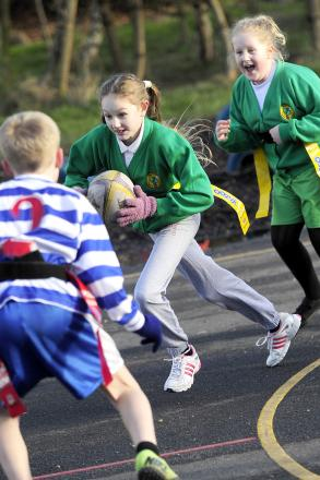 Police help primary pupils at annual tag rugby festival