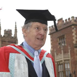 "Mid Devon Star: Actor James ""Jimmy"" Ellis, who has died aged 82,  received an honorary degree from Queen's University in Belfast"