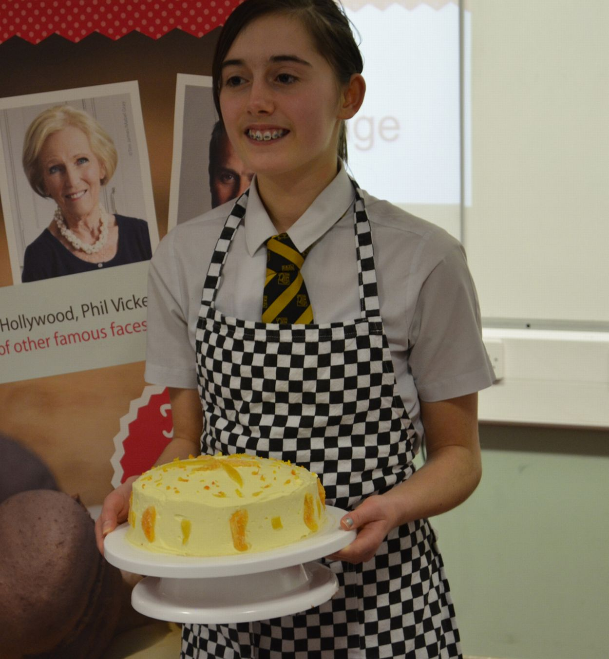 Madeleine wows judges with cake-baking skills