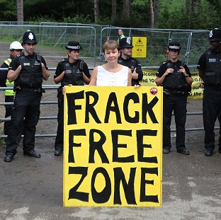 Court sees film of frack protest MP