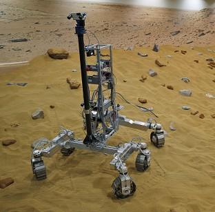 Mid Devon Star: A robotic vehicle on the Mars Yard test area
