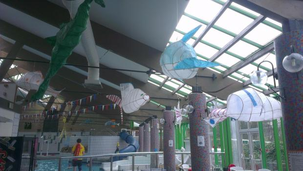 They cod have done no better - School children display Floating Fish