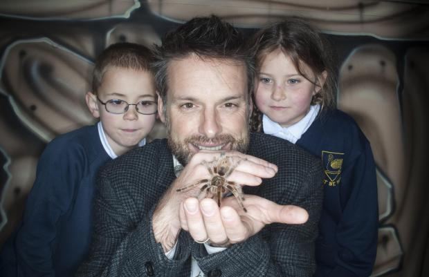 TV star Nick Baker unveils brand new attraction Bugz Unlimited at  Devon's Crealy Great Adventure Park