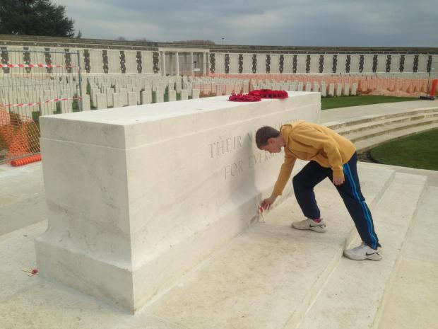 School pay respects at Ypres 100 years after Great War