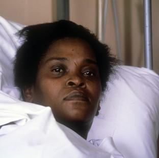 Cherry Groce at St Thomas' Hospital, London, after she was accidentally shot by police in Brixto