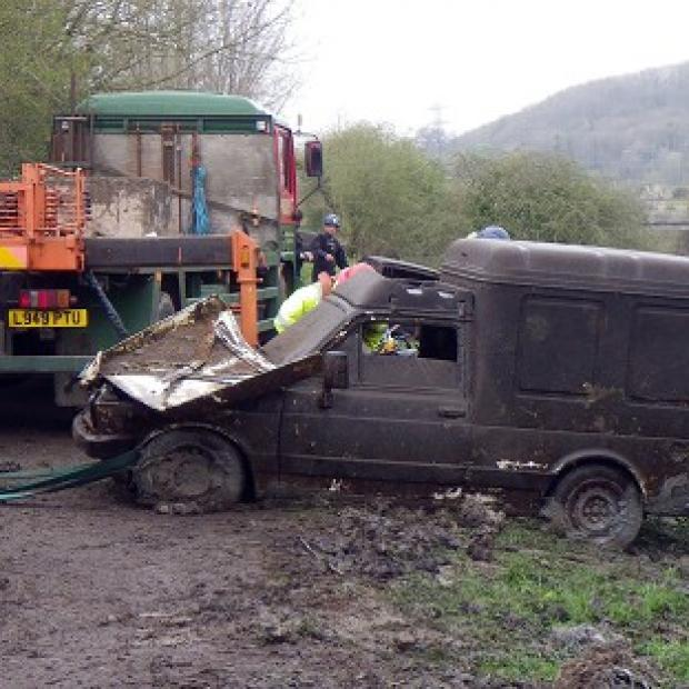 Mid Devon Star: One of eight abandoned vehicles that have been discovered during the clean-up on the Somerset Levels.