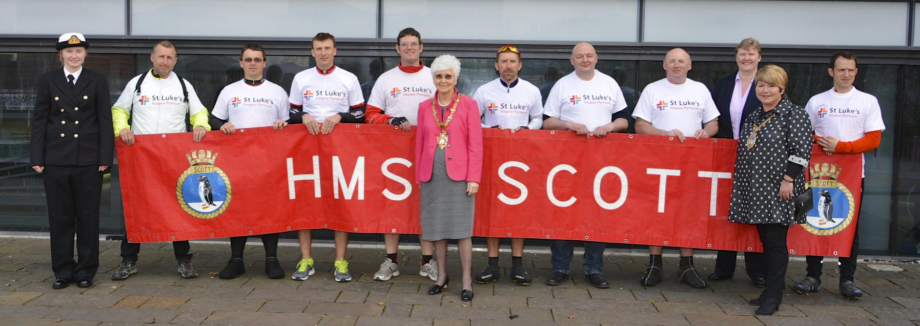 HMS SCOTT CYCLISTS COMPLETE CHARITY RIDE