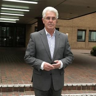 Max Clifford leaving Southwark Crown Court in London, as his trial continues