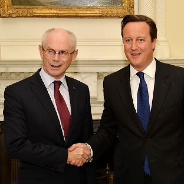Mid Devon Star: Herman Van Rompuy and David Cameron are to hold talks at Chequers