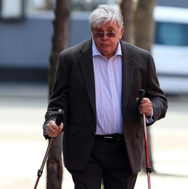 Mid Devon Star: Former executive chairman of the now-defunct JJB Sports Sir David Jones arriving at Leeds Crown Court
