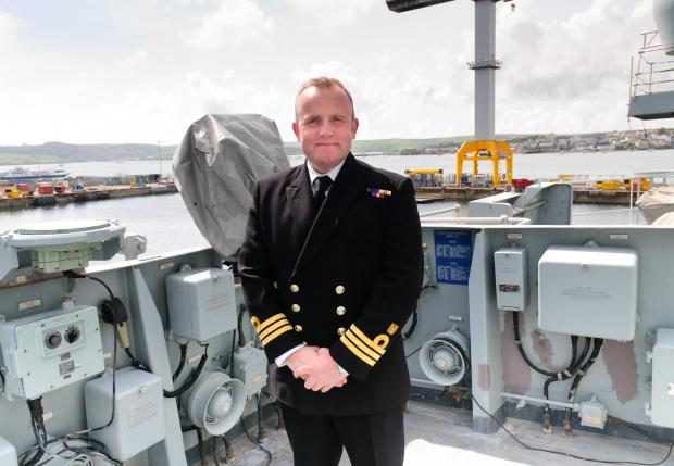 SCOTS CAPTAIN TAKES COMMAND OF 'TARTAN' ROYAL NAVAL WARSHIP