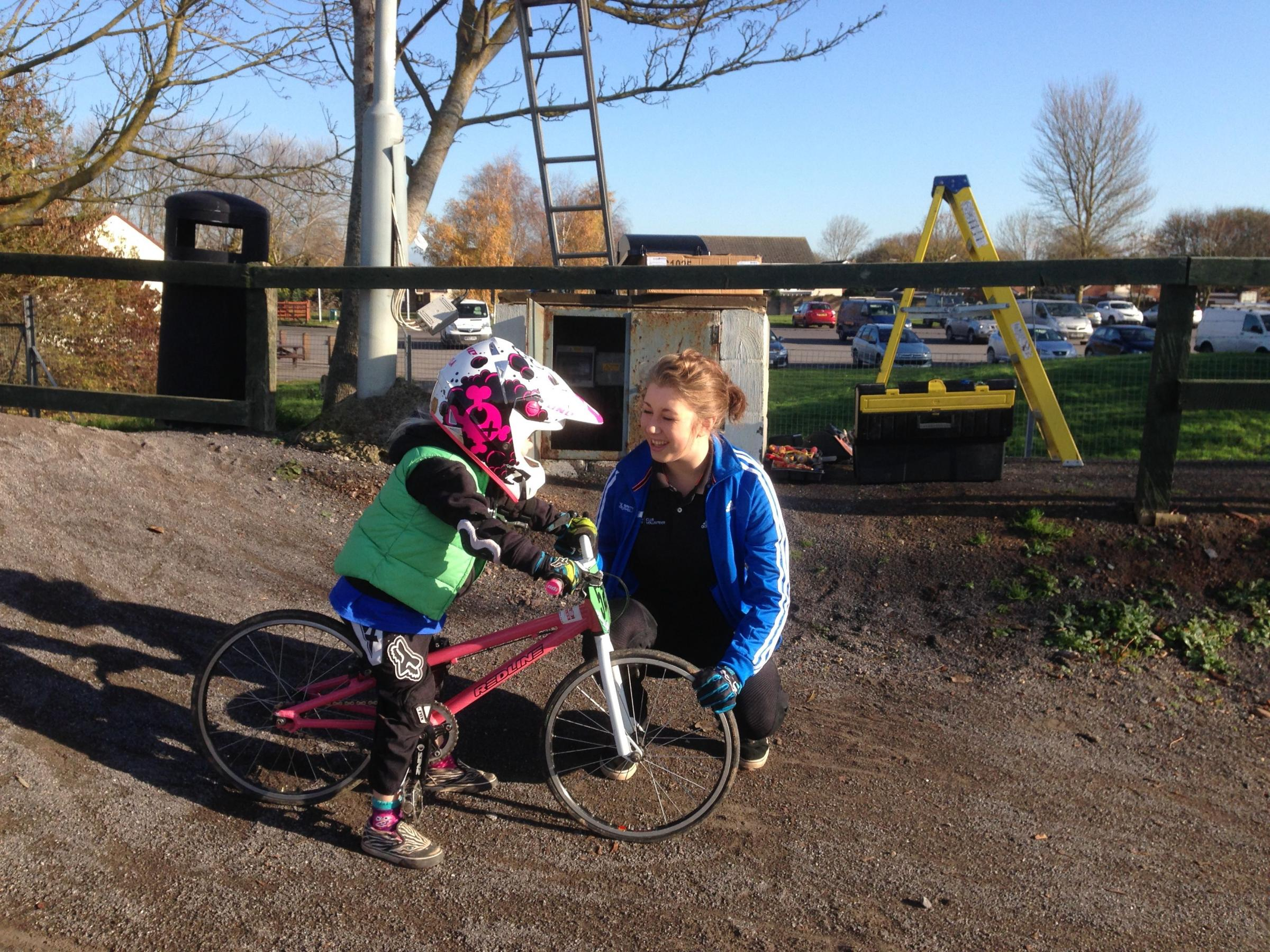 Molly gets PM award for BMX club work