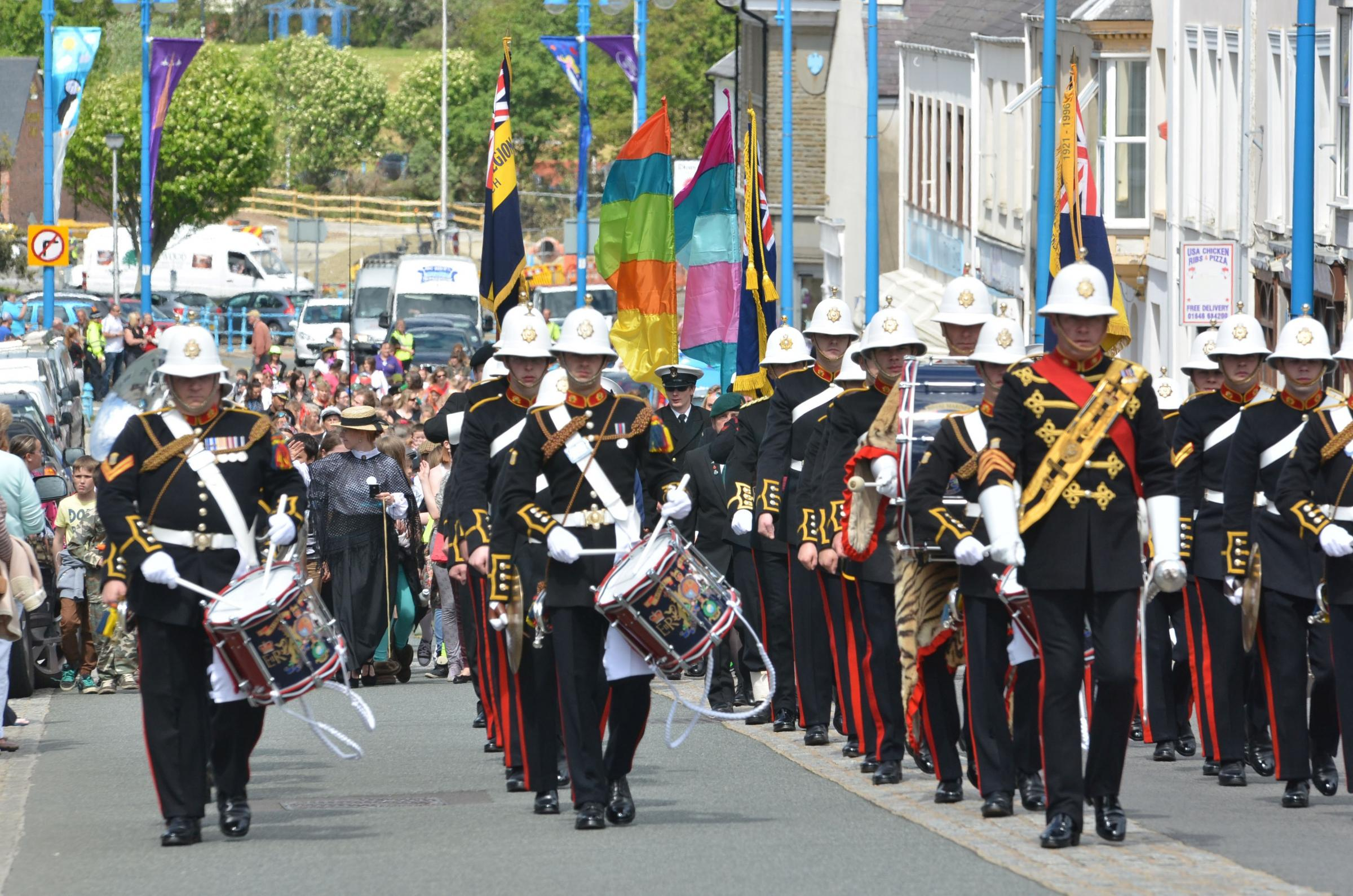Royal Marines birthday speed march – Plymouth to Falmouth