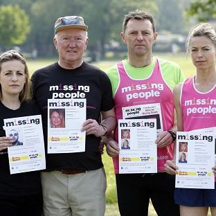 Mid Devon Star: From left, Rachel Elias, Peter Lawrence, Gerry and Kate McCann before running in the Missing People Charity Run on Clapham Common