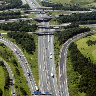 A man was arrested after a van in a police chase was driven the wrong way along the M11.