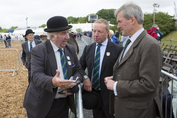 Owen Paterson at the Devon County Show yesterday