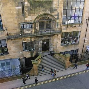 Mid Devon Star: The fire at Glasgow School of Art's Charles Rennie Mackintosh building was reported at about 12.30pm (PA/GSA)