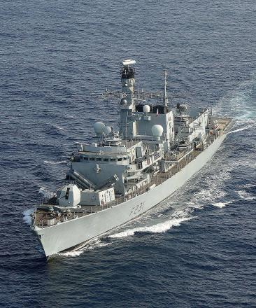 HMS Montrose back in port of Montrose for first time since 2008 and open to visitors