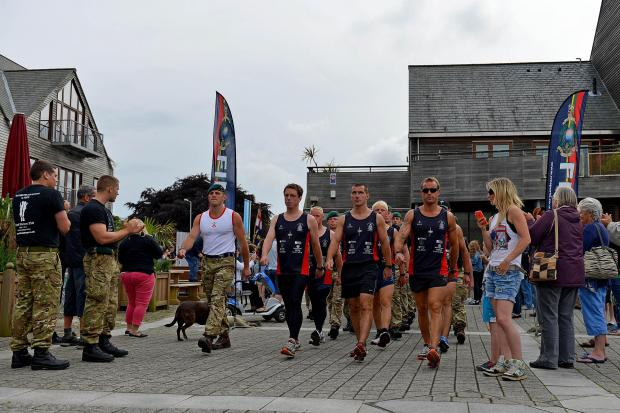 Mid Devon Star: Royal Marines birthday run reaches Falmouth