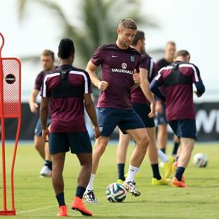Mid Devon Star: England training session ahead of the start of the World Cup
