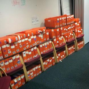 Mid Devon Star: Boxes of passport applications which have piled up in an office in Liverpool