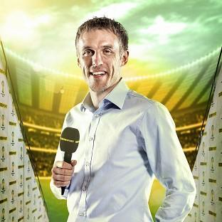 Phil Neville thanked viewers for their criticism after complaints about his commentary (Andr